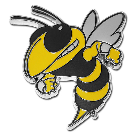 Georgia Tech Yellowjackets Chrome Metal Auto Emblem (Buzz) NCAA