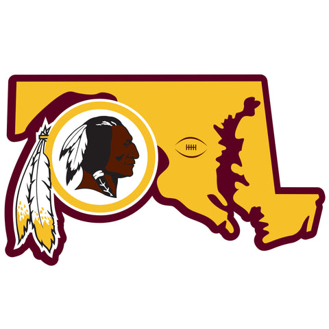 Washington Redskins Home State Magnet (NFL) Maryland Shape