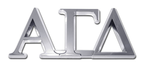 Greek Sorority Alpha Gamma Delta Chrome Auto Emblem