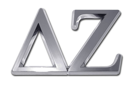 Greek Sorority Delta Zeta Chrome Auto Emblem