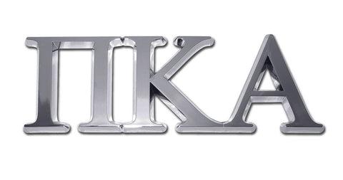 Greek Fraternity Pi Kappa Alpha Chrome Auto Emblem