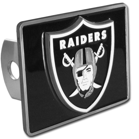 Oakland Raiders Metal Hitch Cover (NFL) (Class II and Class III)