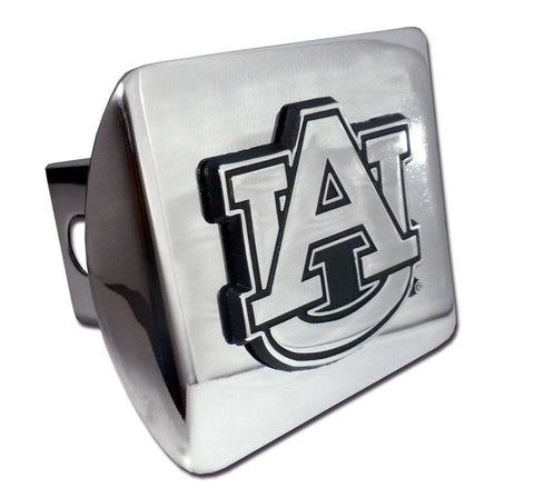 "Auburn Tigers Shiny Chrome Metal Hitch Cover (""AU"") NCAA"