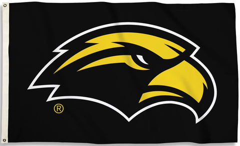 Southern Mississippi Golden Eagles 3' x 5' Flag (Logo on Black) NCAA