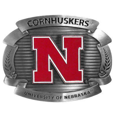 Nebraska Cornhuskers Metal Belt Buckle (NCAA)