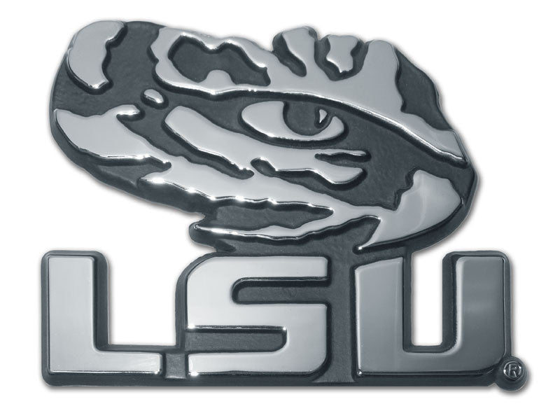 LSU Tigers Chrome Metal Auto Emblem (Tiger Eye) NCAA