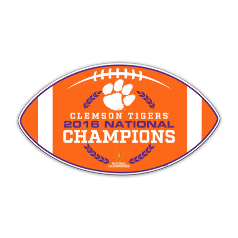 Clemson Tigers 2016 National Champions 12 inch Magnet NCAA Licensed