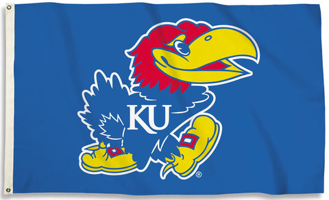 Kansas Jayhawks 3' x 5' Flag (Logo Only on Blue) NCAA Licensed