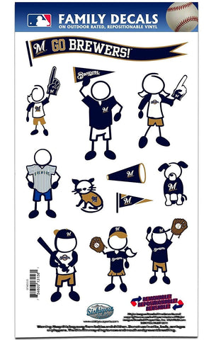 Milwaukee Brewers Outdoor Rated Vinyl Family Decals MLB