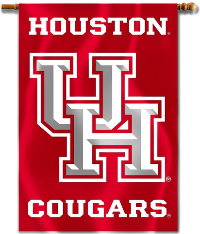 "Houston Cougars 28"" x 40"" Two Sided House Banner NCAA"