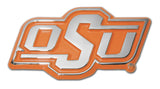 "Oklahoma State Cowboys Chrome Metal Auto Emblem (Orange ""OSU"") NCAA"