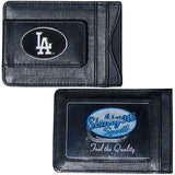 Los Angeles Dodgers Fine Leather Money Clip (MLB) Card & Cash Holder