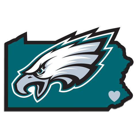 Philadelphia Eagles Home State Auto Decal (NFL) Pennsylvania Shape