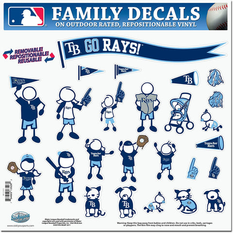 Tampa Bay Rays 25 Outdoor Rated Vinyl Family Decals MLB Baseball