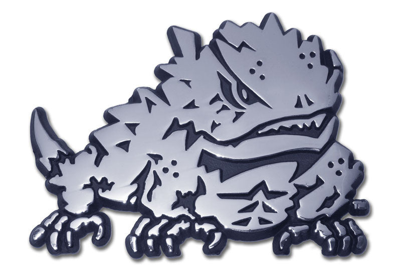 TCU Horned Frogs Chrome Metal Auto Emblem (Horned Frog) NCAA