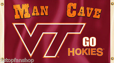 Virginia Tech Hokies 3' x 5' Flag (Man Cave) NCAA Licensed