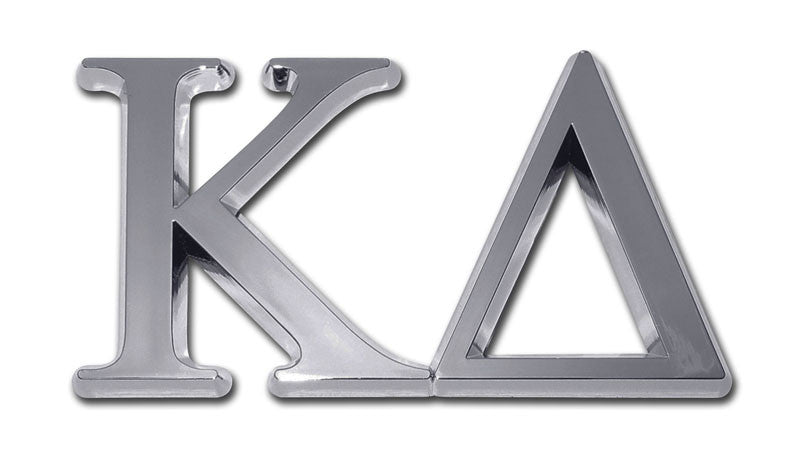 Greek Sorority Kappa Delta Chrome Auto Emblem
