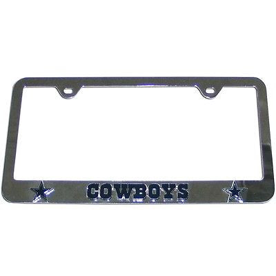 Dallas Cowboys 3-D Chrome Plated Metal License Tag Frame (NFL)