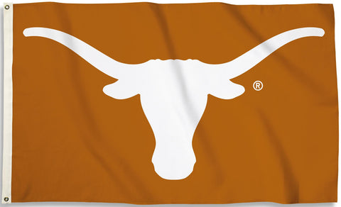 Texas Longhorns 3' x 5' Flag (Logo Only on Burnt Orange) NCAA