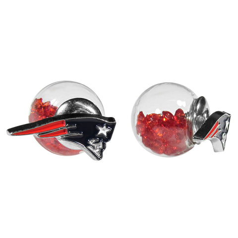 New England Patriots Front/Back Stud Earrings (NFL)