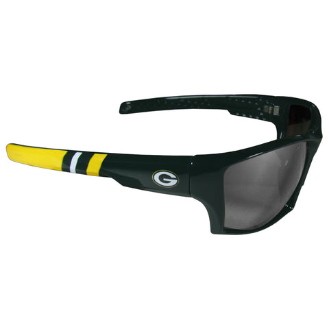 Green Bay Packers Edge Wrap Sunglasses with Microfiber Bag (NFL) BLK