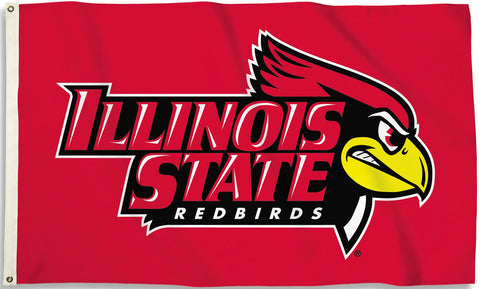 Illinois State Redbirds 3' x 5' Flag (Logo w/ Wordmark) NCAA