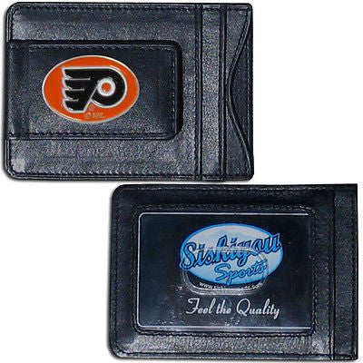 Philadelphia Flyers Fine Leather Money Clip (NHL) Card & Cash Holder