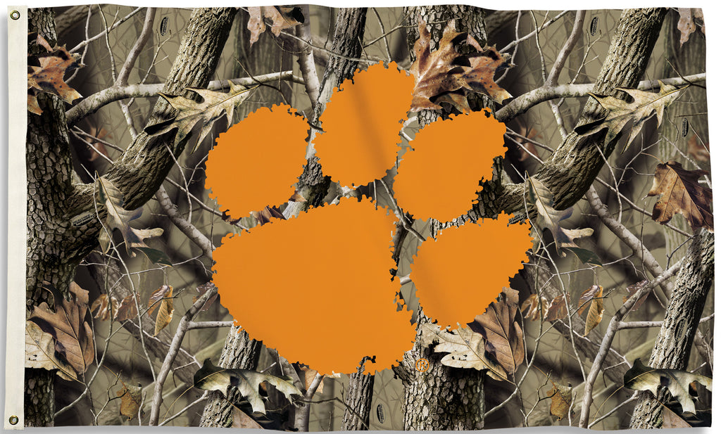 Clemson Tigers 3' x 5' Flag (Realtree Camo) NCAA