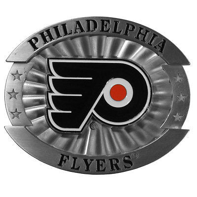 "Philadelphia Flyers Over-sized 4"" Pewter Metal Belt Buckle (NHL)"