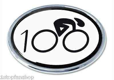 Cycling Chrome Auto Emblem (100 Oval)