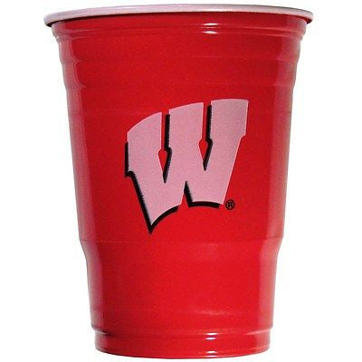 Wisconsin Badgers 18 count 18 oz Disposable Plastic Cups (NCAA)