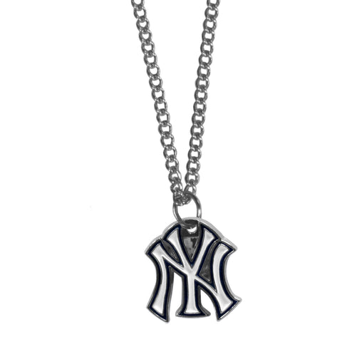 New York Yankees Chain Necklace Metal Logo MLB Jewelry SM