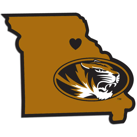 Missouri Tigers Home State Vinyl Auto Decal (NCAA) Missouri Shape