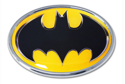 Batman Chrome Metal Auto Emblem (Oval with Color) DC Comics