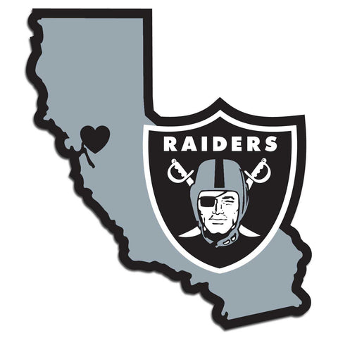 Oakland Raiders Home State Vinyl Auto Decal (NFL) California Shape