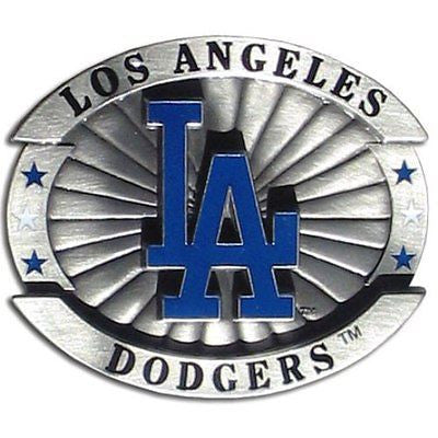 "Los Angeles Dodgers Over-sized 4"" Pewter Metal Belt Buckle (MLB)"
