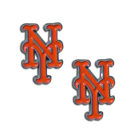 "New York Mets Stud Earrings (""NY"") MLB Jewelry"