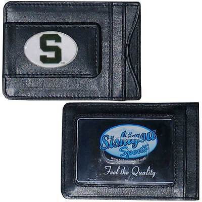 Michigan State Spartans Fine Leather Money Clip (NCAA) Card & Cash Holder