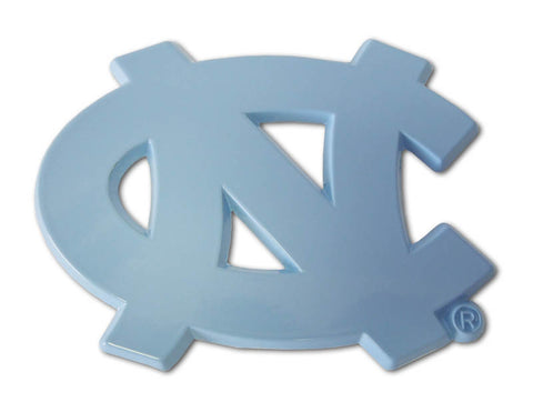 "North Carolina Tar Heels Chrome Metal Auto Emblem (Powder Blue ""NC"") NCAA"