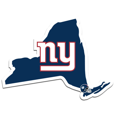 New York Giants Home State Vinyl Auto Decal (NFL) New York Shape w/Helmet