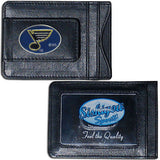 St. Louis Blues Fine Leather Money Clip (NHL) Card & Cash Holder