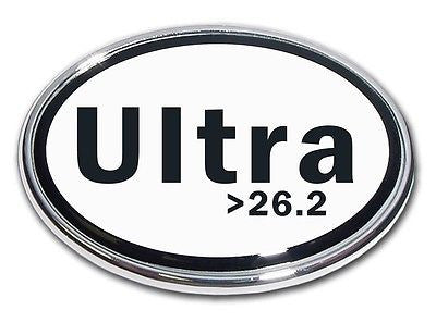 Ultra >26.2 Chrome Metal Auto Emblem (Oval) Marathon