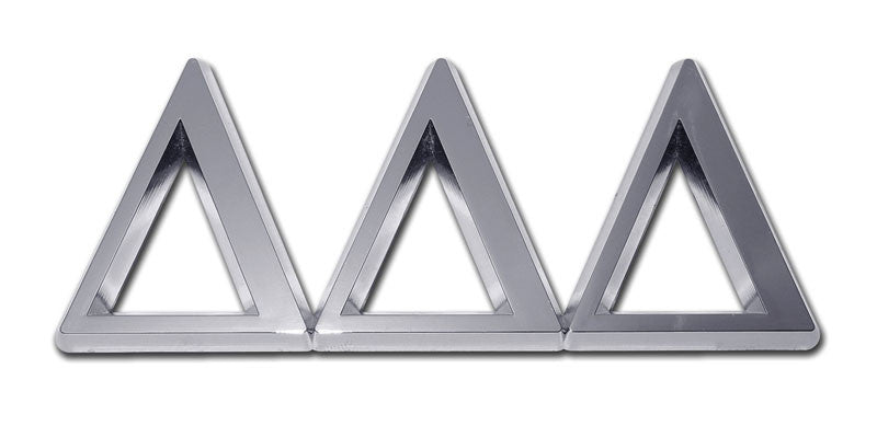 Greek Sorority Delta Delta Delta Chrome Auto Emblem