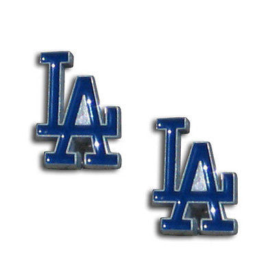 "Los Angeles Dodgers Stud Earrings (""LA"") MLB"