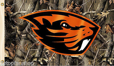 Oregon State Beavers 3' x 5' Flag (Realtree Camo) NCAA