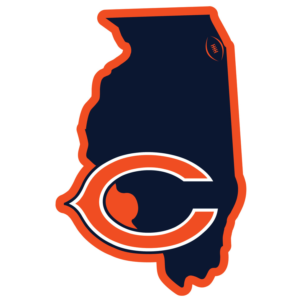Chicago Bears Home State Magnet (NFL) Illinois Shape