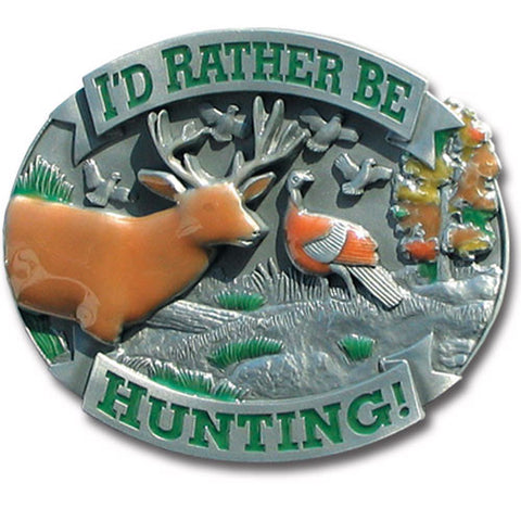 I'd Rather Be Hunting 3-D Metal Hitch Cover