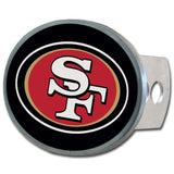 San Francisco 49ers Metal Oval Hitch Cover (NFL)