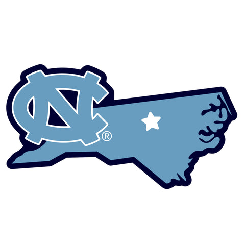 North Carolina Tar Heels Home State Magnet (NCAA) NC Shape