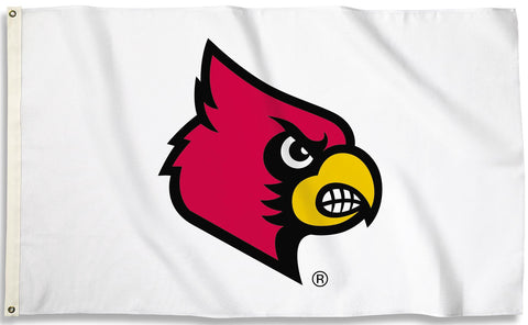 Louisville Cardinals 3' x 5' Flag (Logo Only on White) NCAA